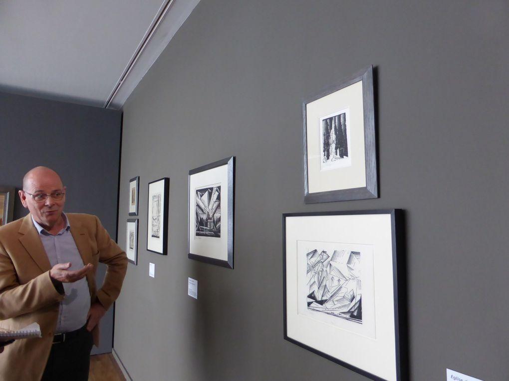 Vues de l'exposition Lyonel Feininger, l'arpenteur du monde © Le Curieux des arts Gilles Kraemer, présentation presse, avril 2015, MuMa – Le Havre