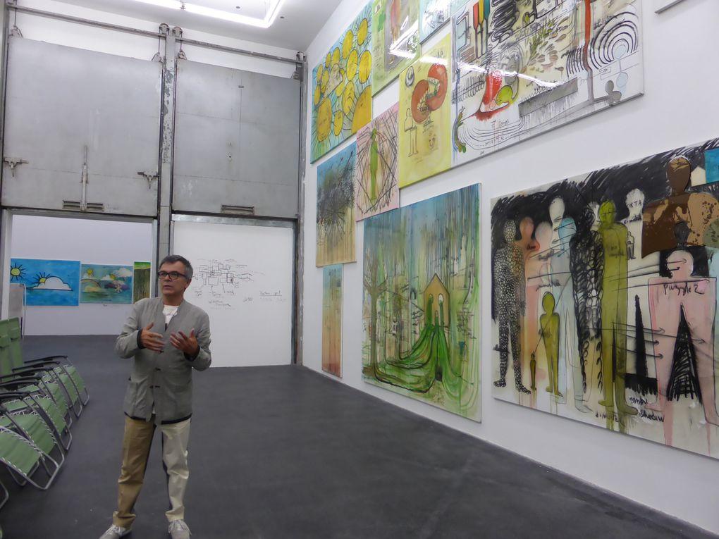 Vues de l'exposition 2716,43795 m² FABRICE HYBER, CRAC Languedoc-Roussillon, Sète © Le Curieux des arts Gilles Kraemer, présentation presse, 26 juin 2015