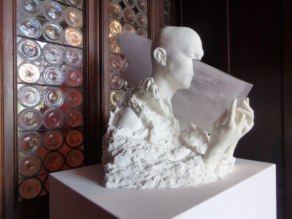 Recycle Group, Stream II, 2015. Acrylique et plastique. Exposition Glasstress 2015 Gotika au Palazzo Franchetti © Le Curieux des arts Gilles Kraemer. 56ème exposition Internationale d'Art - la Biennale di Venezia. 6 mai 2015