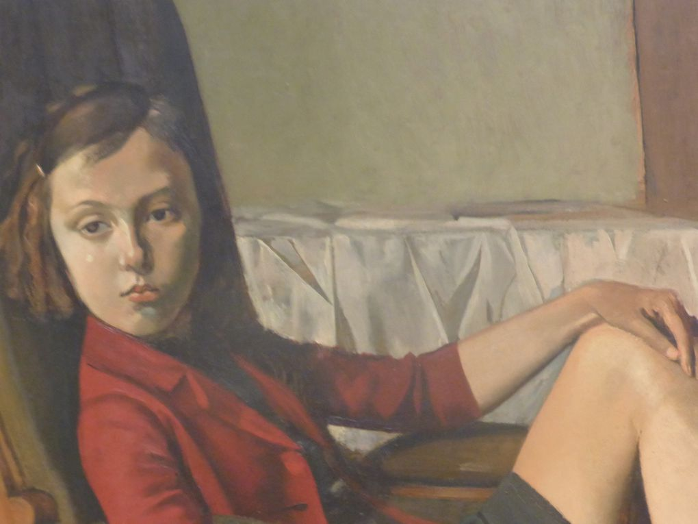 Détails de Thérèse, Balthus, 1938. Huile sur carton monté sur bois, 100,3 x 81,3 cm. Bequest of Mr. and Mrs. Allan D. Emil, in honor of William S. Lieberman, 1987 © Le Curieux des arts Gilles Kraemer, Metropolitan Museum of Art, New York, 23 novembre 2015