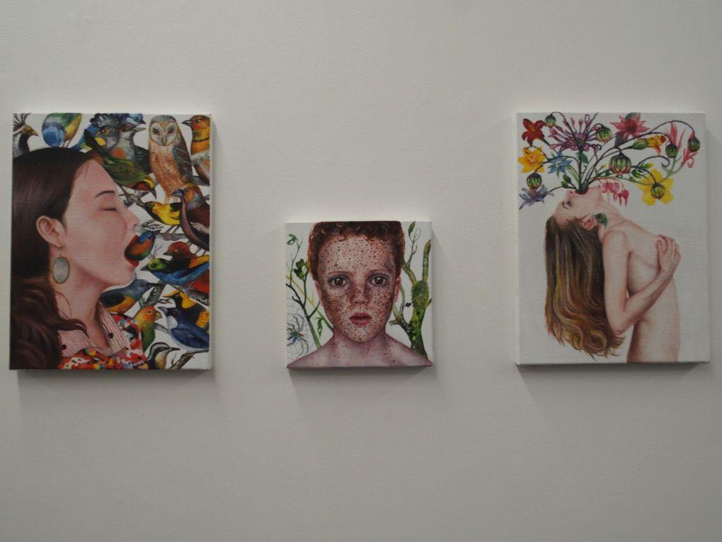 Vues de l'exposition Nazanin Pouyandeh. L'envers de l'histoire © photographies Le Curieux des arts Gilles Kraemer, galerie Vincent Sator, Paris, février 2016.