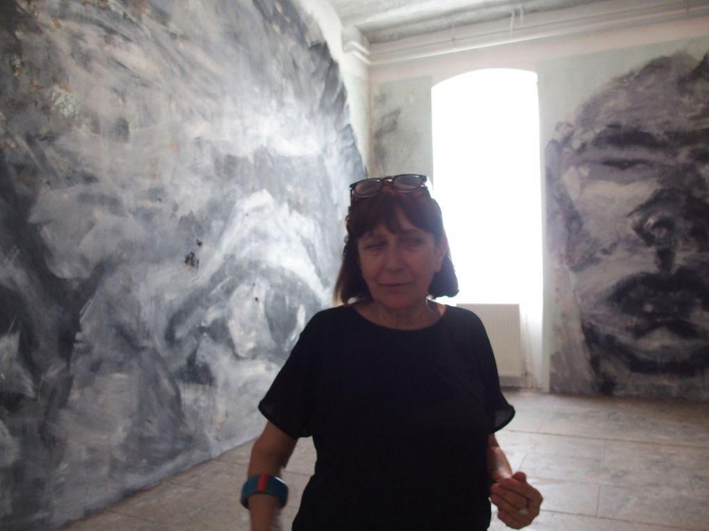 La salle Yan Pei-Ming © photographies Le Curieux des arts Gilles Kraemer, visite presse, lycée Charles de Gaulle, Sète, 30 juin 2016
