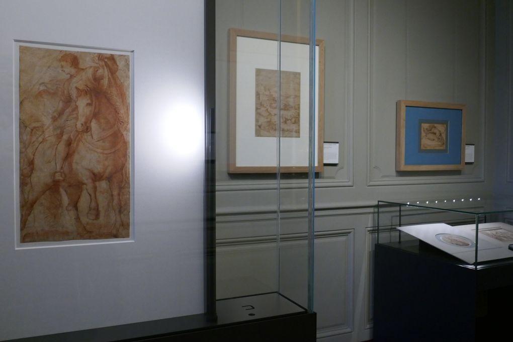 Vues de l'exposition © photographies Le Curieux des arts Gilles Kraemer, visite presse de l'exposition Bellini, Michel-Ange, Le Parmesan. L'épanouissement du dessin à la Renaissance, cabinet d'arts graphiques du musée Condé, domaine de Chantilly.