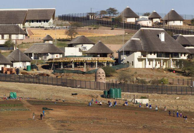 Imágenes de la polémica casa privada del presidente de Sudáfrica, Jacob Zuma.- El Muni.