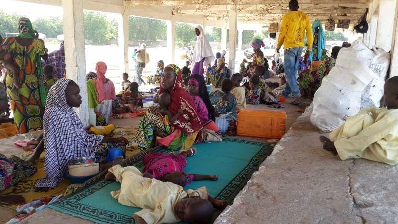 Imágenes, campo de desplazados de Minawao, en la norteña localidad camerunesa de Moloko.- El Muni.