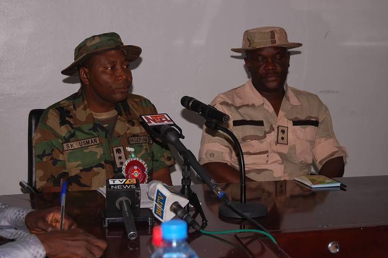 Colonel Sani Kukasheka Usman, director de relaciones públicas del ejército nigeriano.- El Muni
