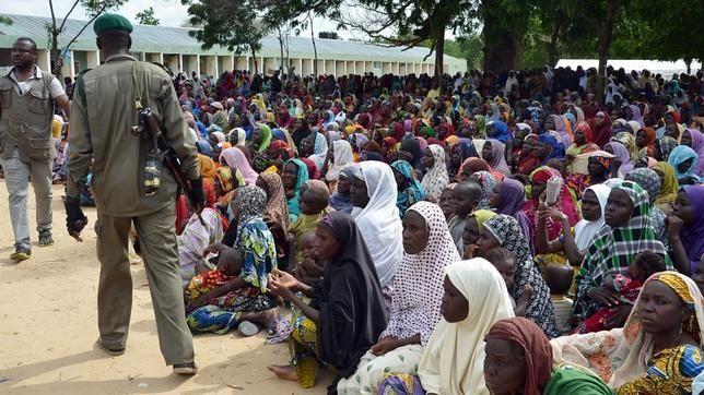 Imágenes de las niñas secuestradas por Boko Haram hace más de dos años.- El Muni.