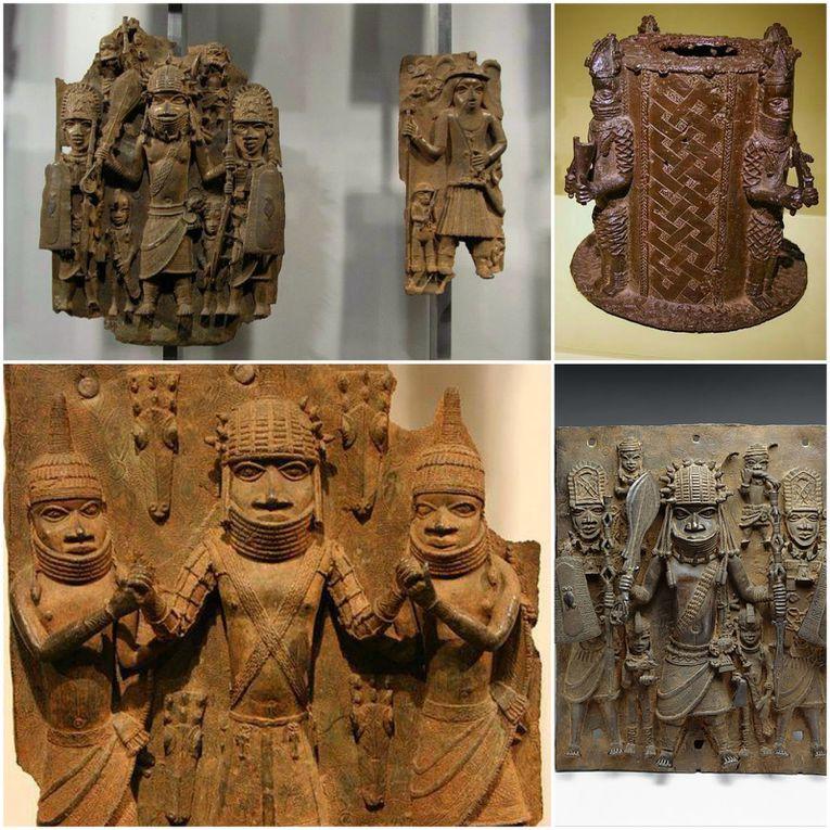 Imágenes de Benin. tallas en bronce.- El Muni.