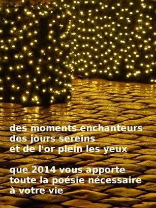 Cartes de vœux reçues en 2014