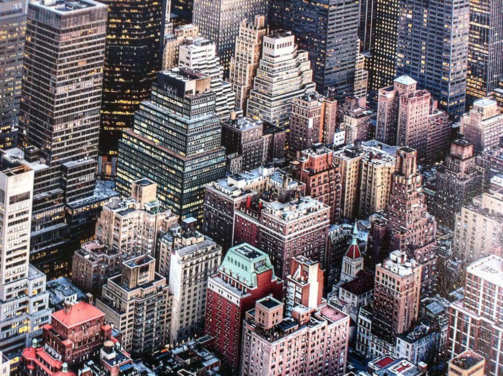 The Big Apple (photo réalisée à partir d'une peinture acrylique sur toile, détail)