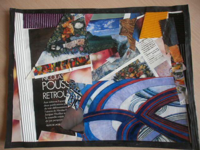 Collages Dada réalisés par les élèves de MS de la classe d'Enna -  MARS 2014