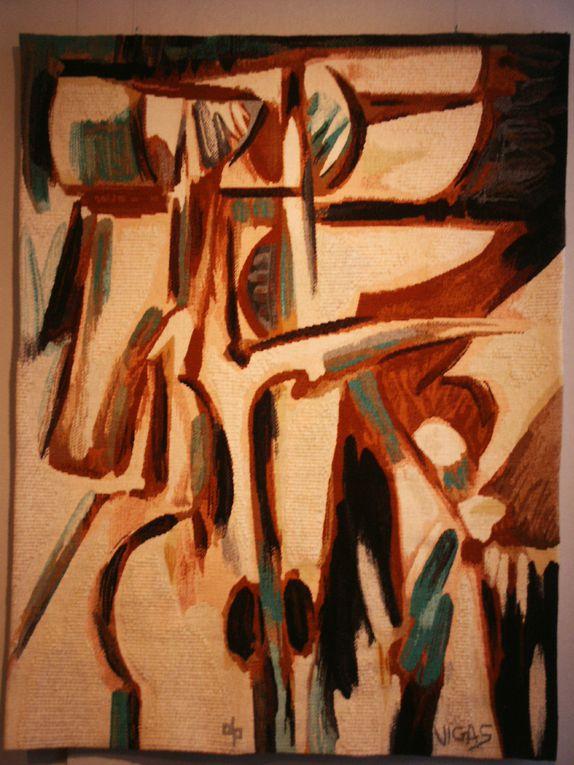 Tapisseries d'Oswaldo Vigas exposées au musée en 2005