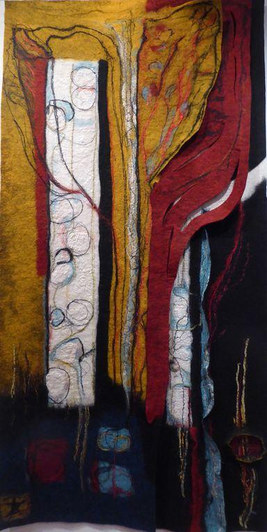 Oeuvres des artistes en textile dont 2 petits formats