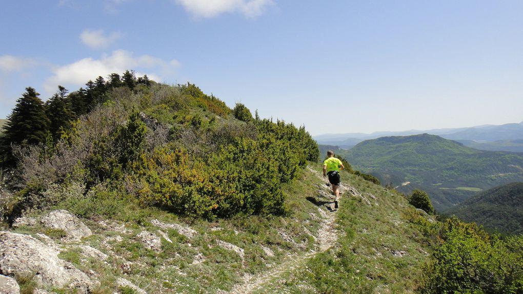 Le Duffre (1757m), Montagne de Sarcéna et Montagne de l'Aup, depuis Valdrôme