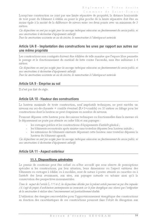 Plan Local d'Urbanisme de la commune