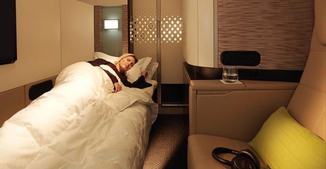 La compagnie aérienne Etihad Airways propose un véritable appartement à bord de ses Airbus 380