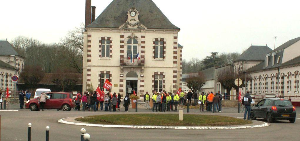 Gréve des employés communaux de la ville de Migennes du CCAS et de la CCAM