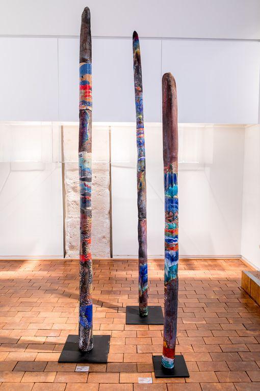 belle exposiiton des totems de la mer à la galerie collection 4 rue de thorigny à Paris de juin au 29 Aôut 2017
