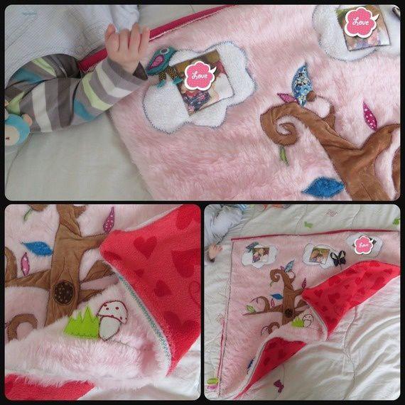 Couverture bébé personnalisée - Promenons Juliette dans les bois - by 1B2F- 1 Brin 2 Folie
