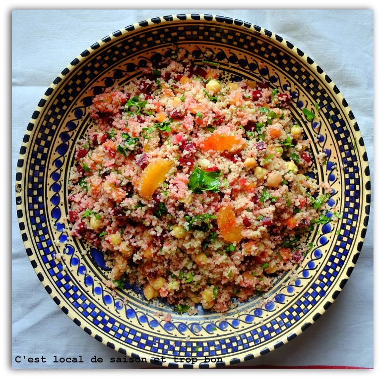 TABOULE A LA BETTERAVE ET ORANGE