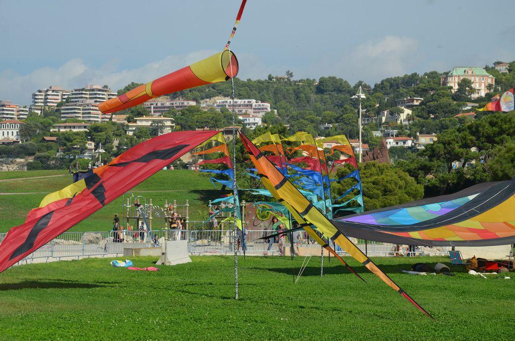 Certains Cerfs-Volants présents à la Fête du Vent 2014 de Marseille.