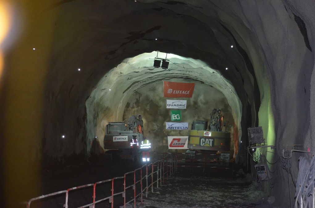Photos - Isere/Hautes-Alpes : Percement du Nouveau Tunnel du Chambon.