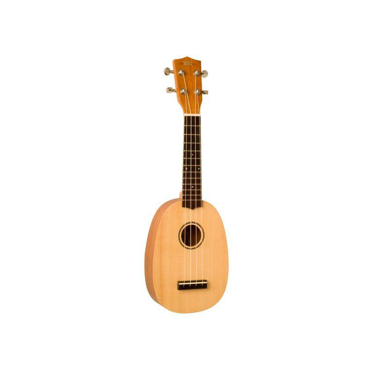 Types d'instruments principalement utilisés par Nazca : banjolélé, glockenspiel,ukulélé, cajon, guitare.