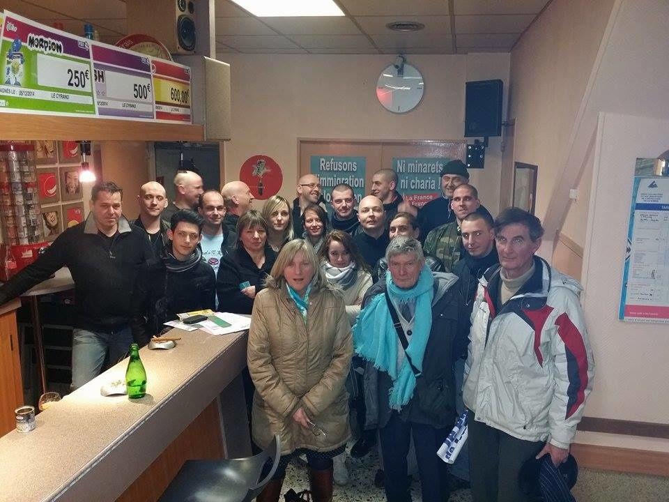 Vendredi 6 février, le Parti de la France était à Albert (80)