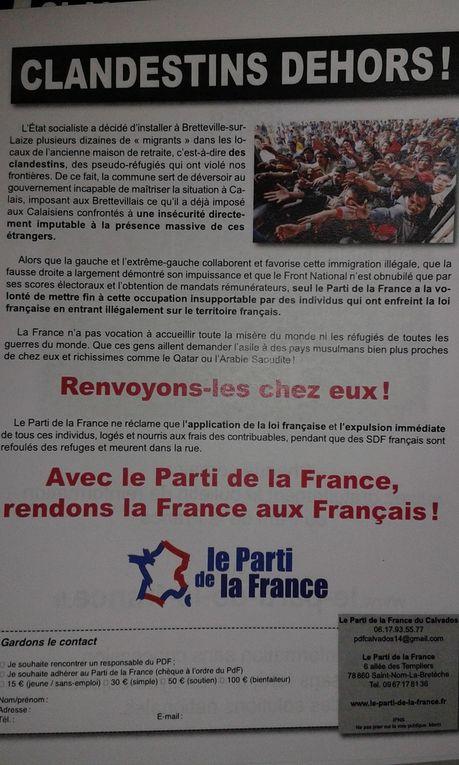 Bretteville-sur-Laize : le Parti de la France tracte contre l'installation de migrants !