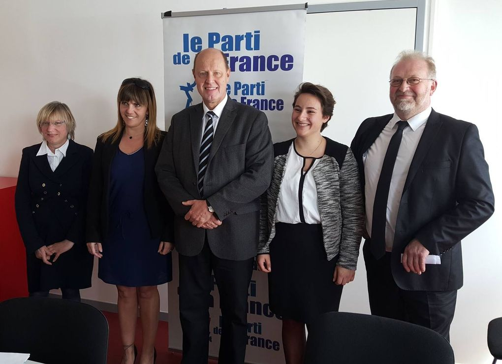 Carl Lang a présenté les candidats du Parti de la France dans l'Oise et la Somme
