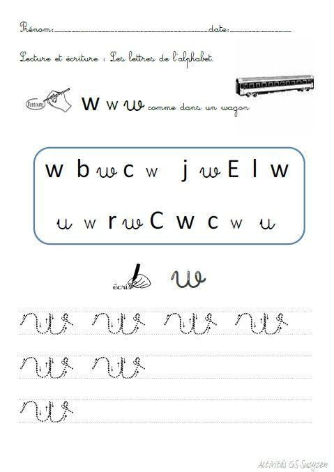 Activités autour de l'alphabet.