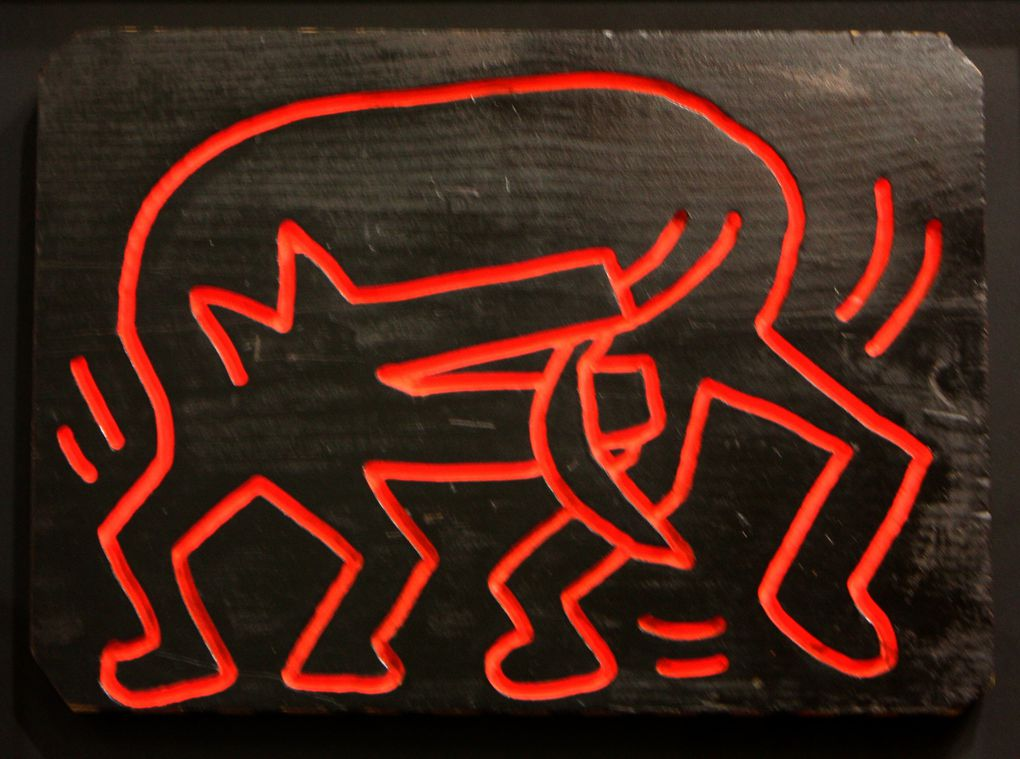 """Untitled"", 1983 de Keith Haring courtesy Galerie Laurent Strouk © Photo Eric Simon"