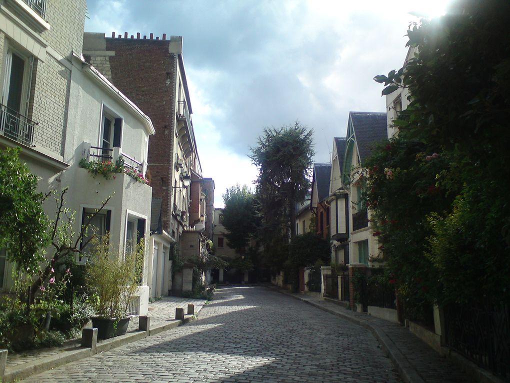 Villa Léandre, Chez Plumeau, square Marcel Bleustein-Blanchet, les vignes...