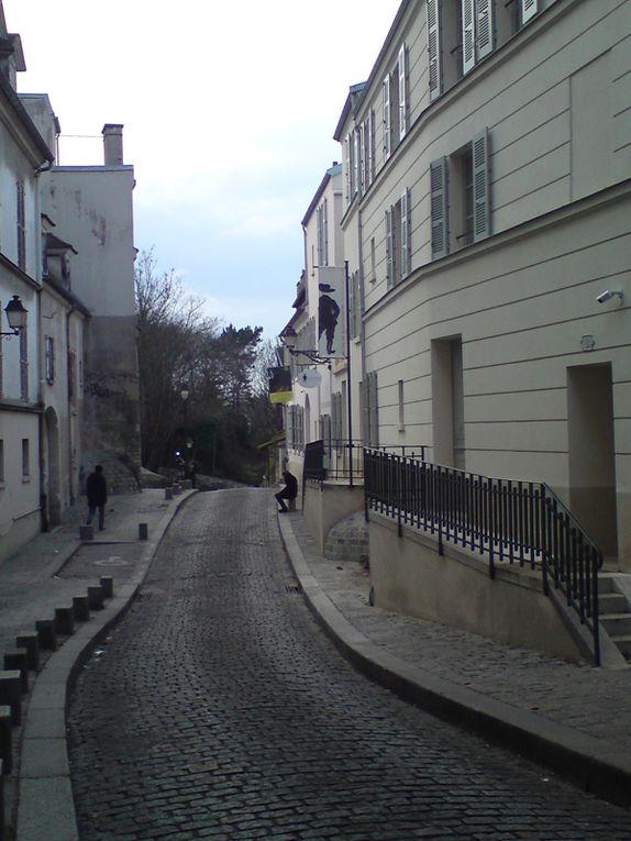Fraîcheur et soleil d'hiver à Montmartre