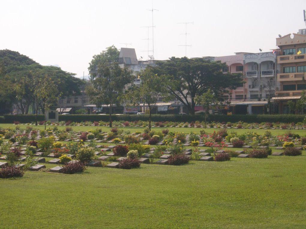 Thaïlande : Kanchanaburi- Cimetière militaire