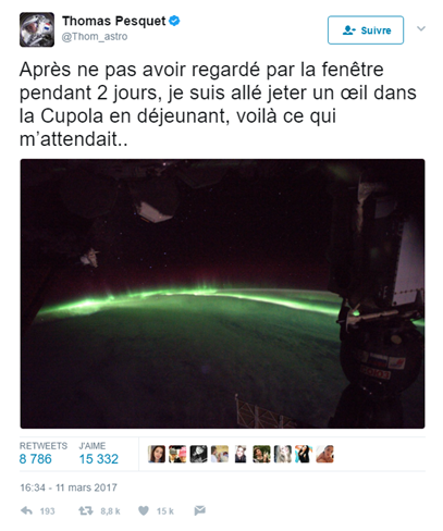 Buzz: Les Tweets les plus Retweetés de l'astronaute Thomas Pesquet !