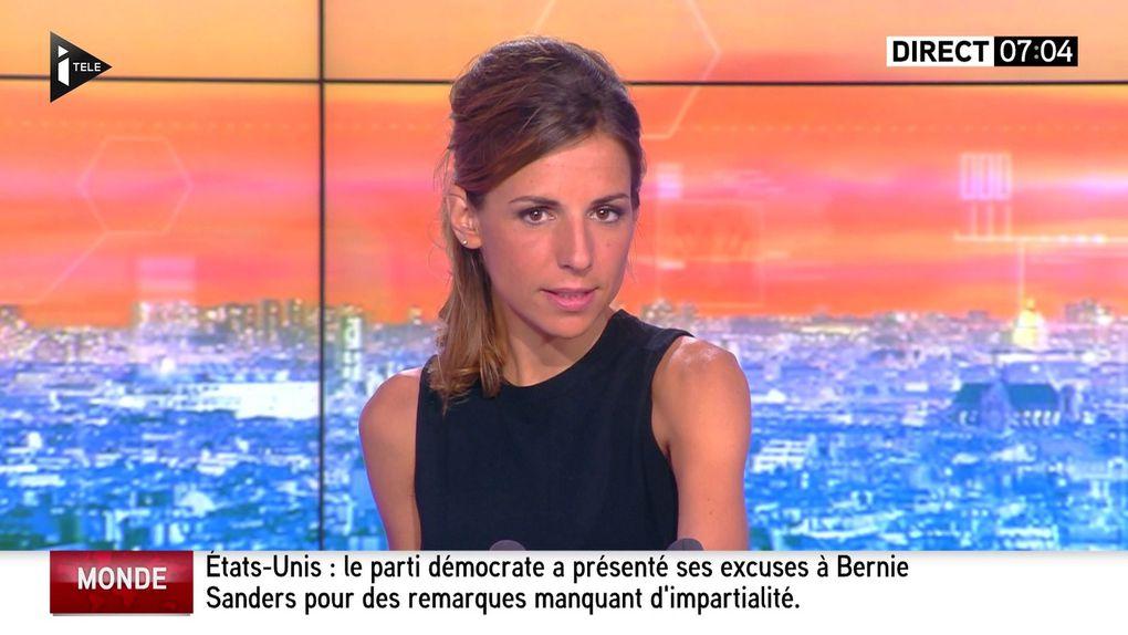 ALICE DARFEUILLE pour LA MATINALE INFO le 2016 07 26 sur i&gt&#x3B;tele