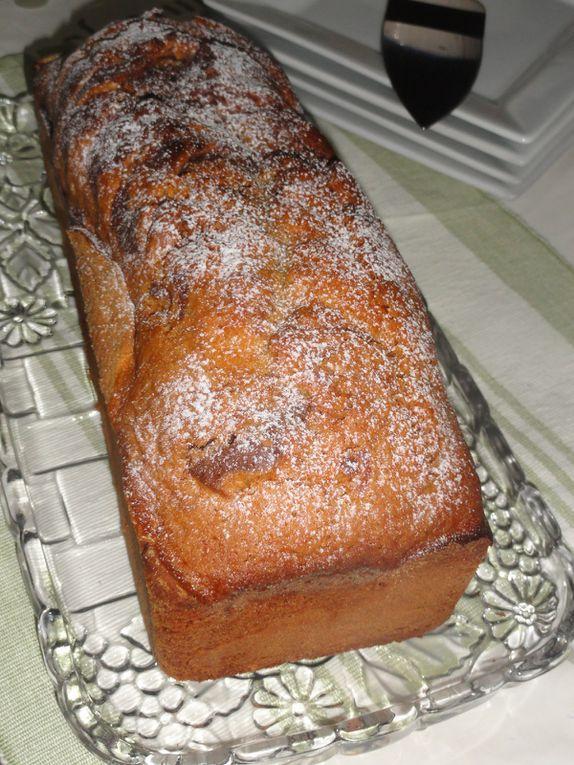 Cake Marbré au chocolat, vanille, zeste d'orange et Smen (beurre clarifié, le ghee)