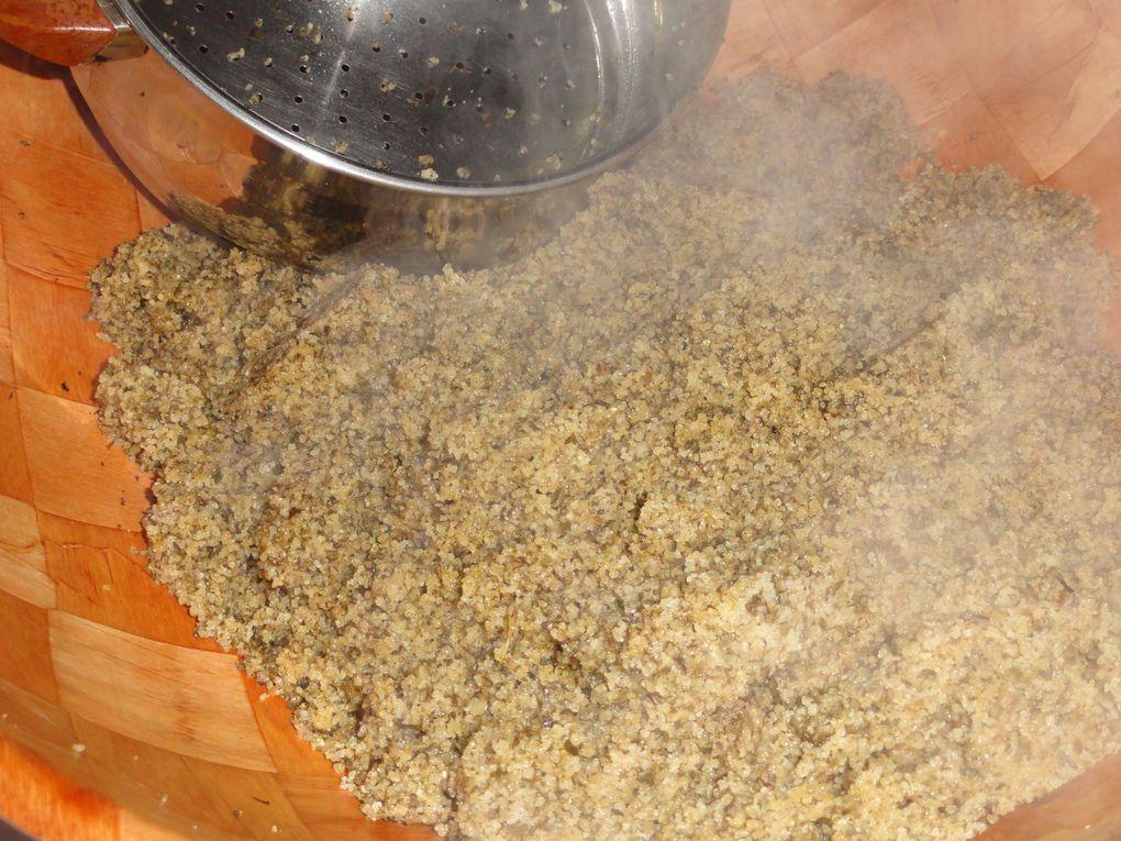 Couscous à la lavande(Kesksou bel helhal)/ Plat Algérien