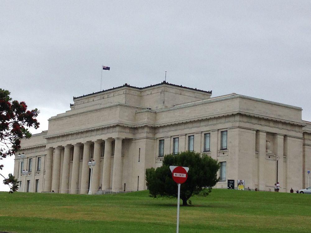 Vue de Bastion Point, notre carrosse qui a 190 000Km au compteur et Auckland Domain