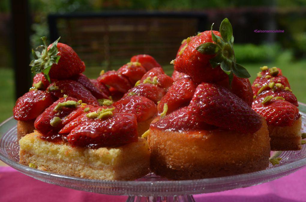 Tartelettes aux fraises à la crème d'amandes