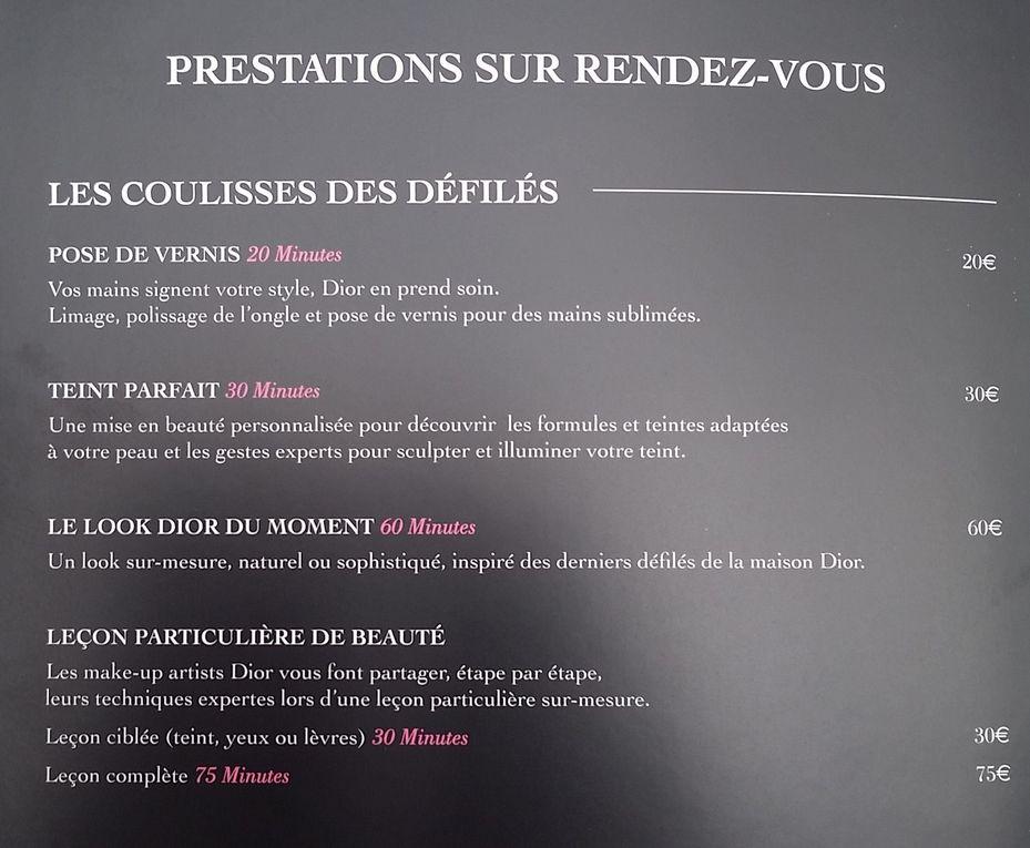 Christian Dior ouvre un ''atelier'' de services parfums et beauté à Parly 2.
