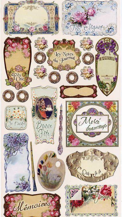 Cartonnettes et étiquettes à imprimer