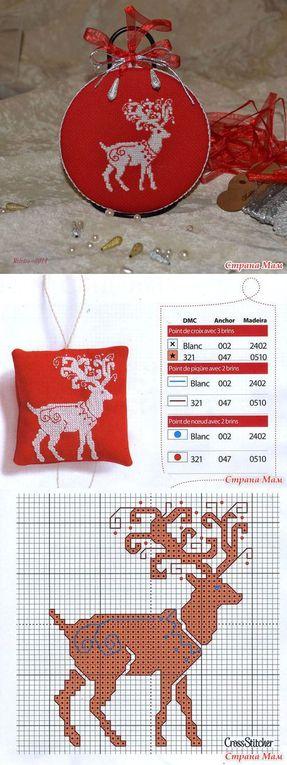 Une petite grille de mouton et renne pour Noël