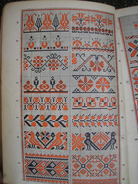Broderies hongroises, grilles anciennes.