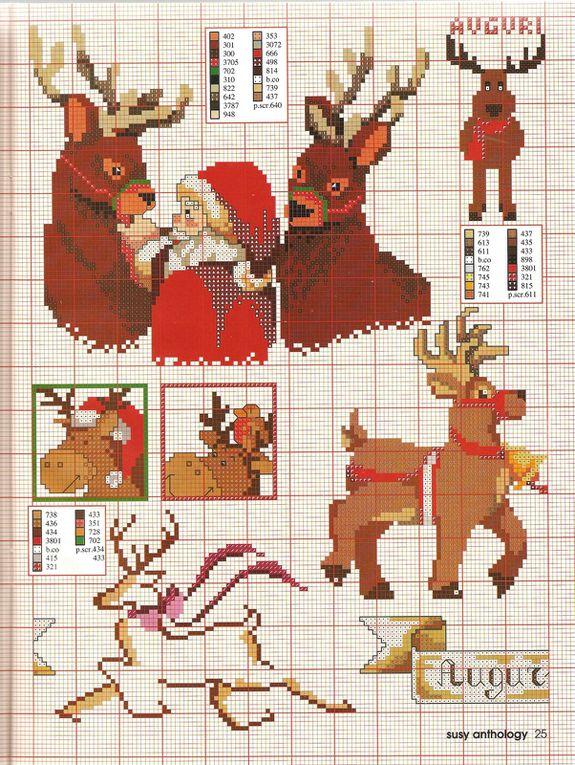Grilles de point de croix 28: un Noël magique !