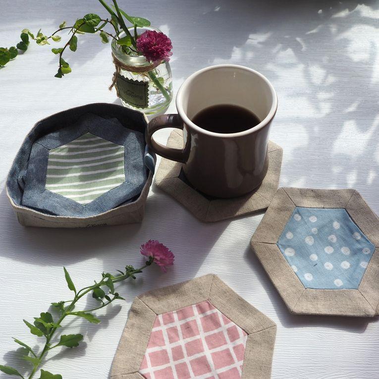 Le + plus...       Une autre jolie idée de patchwork...quelques cœurs pour la Saint Valentin...