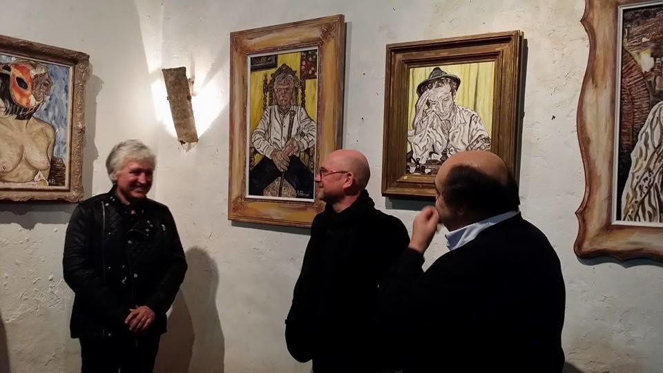 Alain Fabresse refait le portrait de Pierre-Henri de la Fabrégue et Jean Casagran au domaine de Rombeau à Rivesaltes! interview Nicolas Caudeville