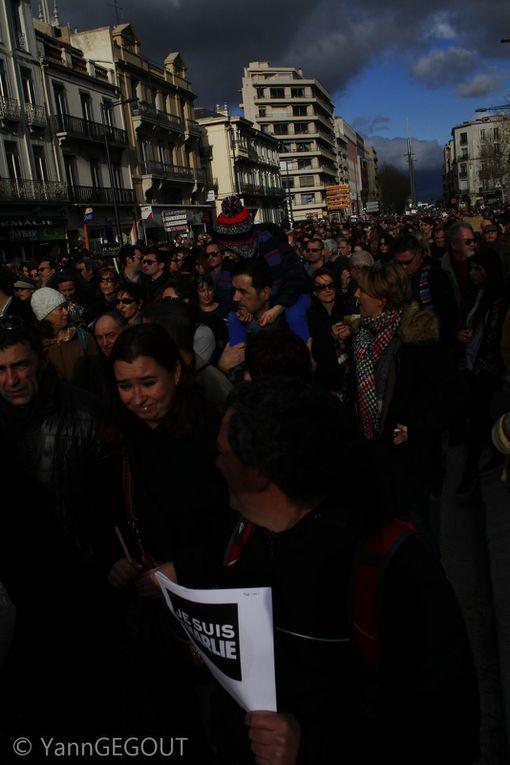 Charlie Hebdo/ Perpignan: ils étaient près de 40 000 Charlies à défiler dimanche matin! reportage photo Yann Gegout