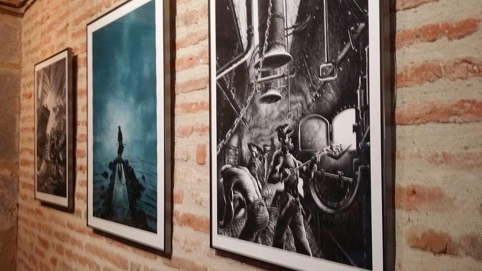 Perpignan:La mer et le rock s'invite au Castillet en BD! interview Riff Reb's et Jean Casagran par Nicolas Caudeville